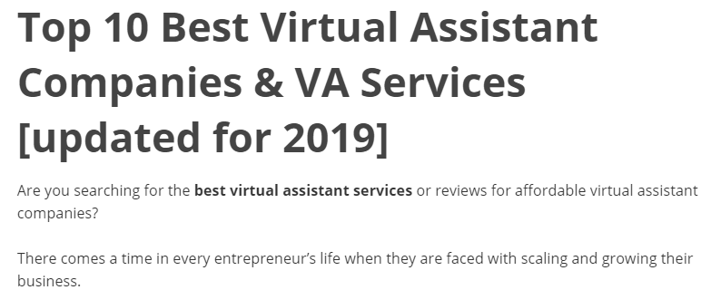 Top 10 virtual assistant services