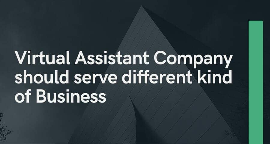 Virtual Assistant Company should serve a different kind of Business