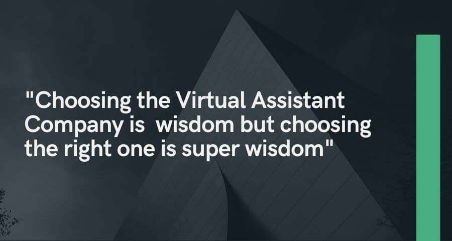 Choosing the Virtual Assistant Company
